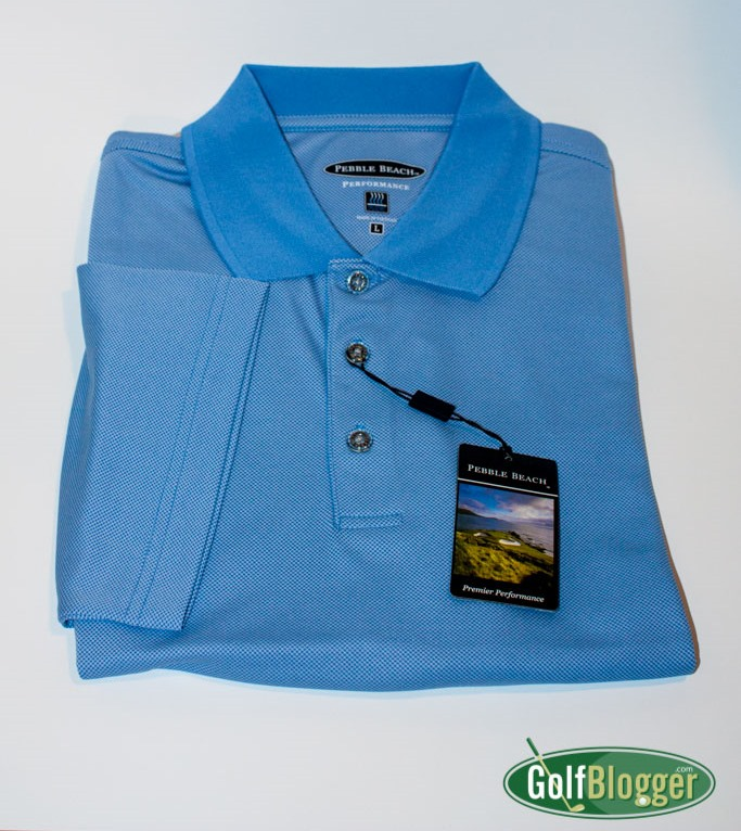 Pebble beach performance polo review golfblogger golf blog for Pebble beach performance golf shirt