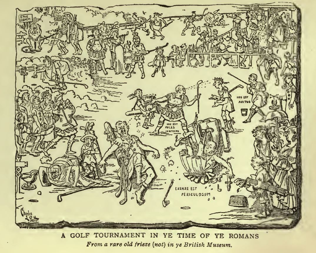 Golf In The Time Of The Romans Golf Cartoon